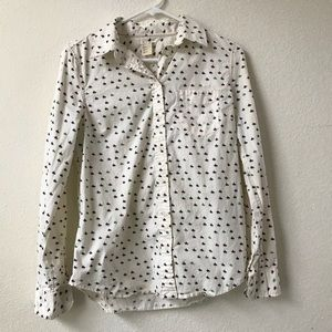 Levi's white cowboy patterned button down